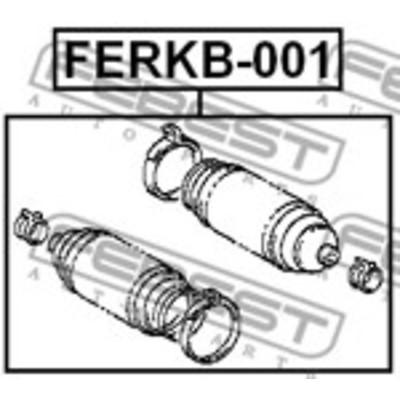 FERKB-001 STEERING RACK GATER / GEAR BOOT KIT OEM: 45535-02020