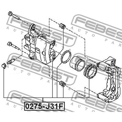0275-J31F FRONT BRAKE CALIPER REPAIR KIT