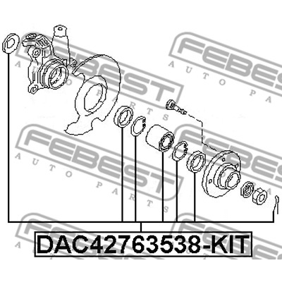 DAC42763538-KIT FRONT WHEEL BEARING REPAIR KIT OEM 40210